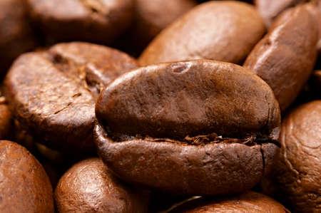 Close-up de granos de caf� tostado