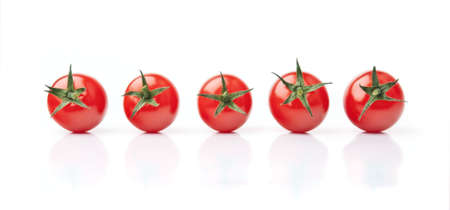 Five Fresh Red Cherry Tomatoes
