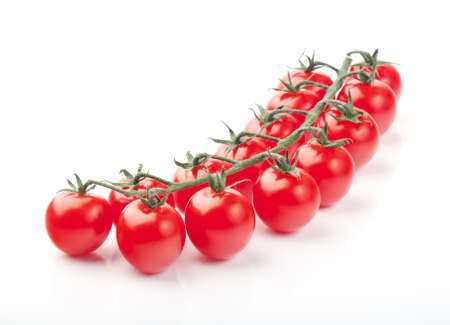 Close up of fresh red cherry tomatoes