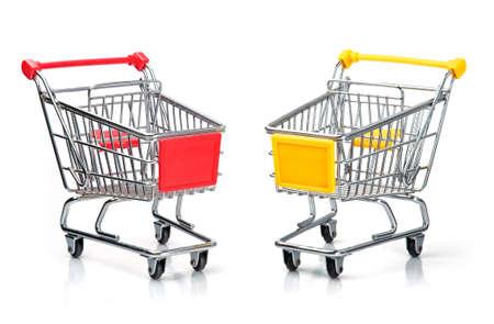 Shopping Carts Isolated On White Stock Photo