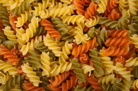 rotini: Three Colors Rotini Pasta