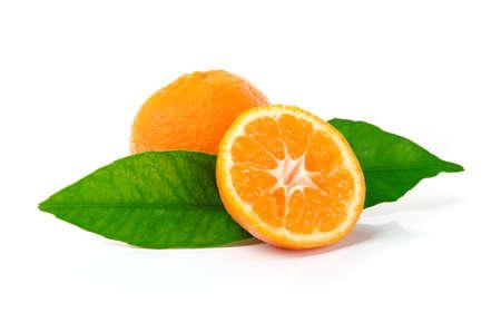 Fresh Mandarins Isolated on White