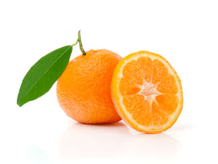 Fresh Mandarins Isolated on White
