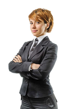 Businesswoman Isolated On A White Background Stock Photo - 16881739