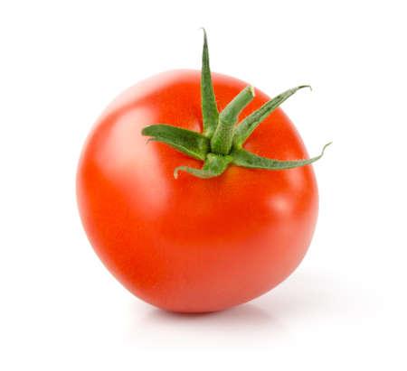 Fresh Tomato, Isolated on White Background Stock Photo