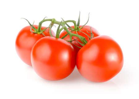 Tomates frescos sobre fondo blanco