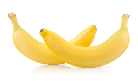 Two Ripe Bananas Isolated on White Background