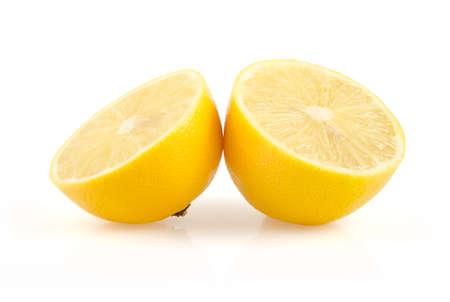 Half Lemon Isolated on White Background Stock Photo
