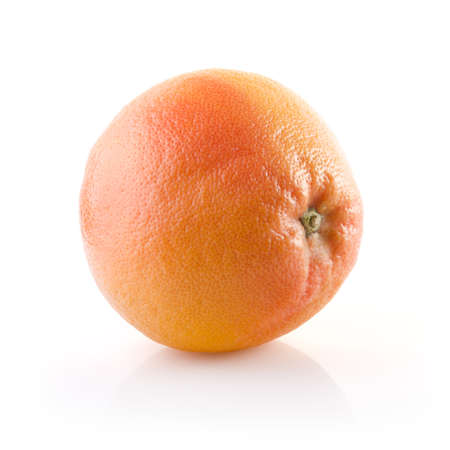 Fresh Grapefruit on white with clipping path Stock Photo