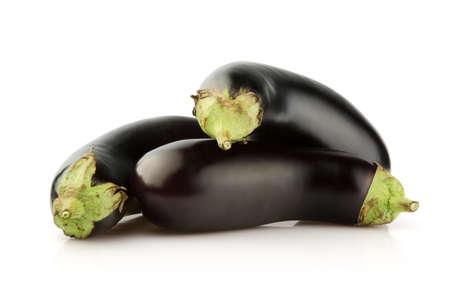 Fresh Eggplant isolated on white background