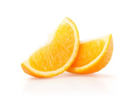 Two Slices of Orange Isolated on White Background