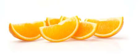 Orange Slices Isolated on White Background