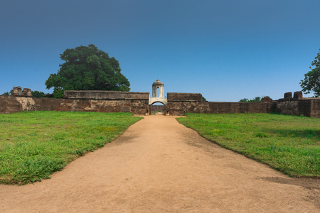 Entrance of Sadras Dutch Fort, near Chennai, Tamil Nadu Stock Photo