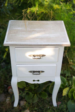 nightstand: beautiful classic nightstand. isolated on white.