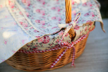 texture, print and wale of fabric in beautiful floral pattern photo