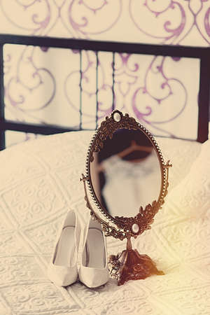 dowry: The bride on her wedding day. Morning bride