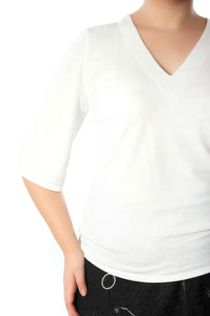 short sleeved: part of womens clothing, arm and shoulder Stock Photo