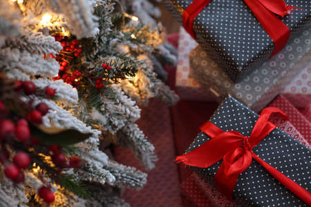 christmas tree presents: Christmas toys together with gifts