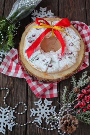 Christmas cakes in the beautiful scenery Stock Photo