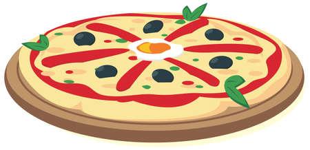europe closeup: Italian Pizza