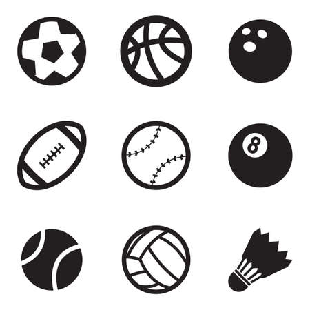 rugby ball: Bola Iconos Vectores