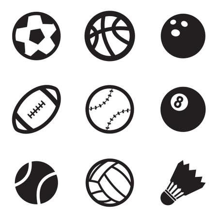 pelota rugby: Bola Iconos Vectores