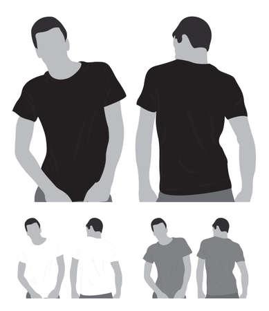 Blanco T-shirts Stock Illustratie