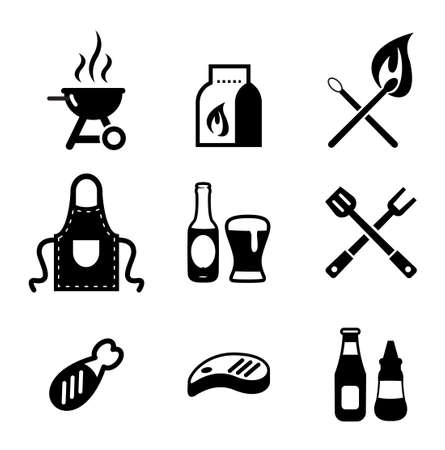 meat on grill: Grill Or Barbecue Icons