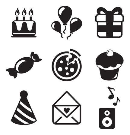 urodziny: Urodziny ikony Ilustracja