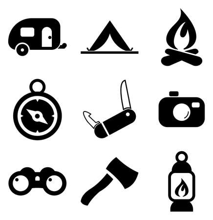 Camping Icons Stock Illustratie