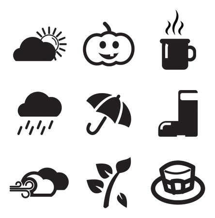 umbrella: Autumn Icons Illustration