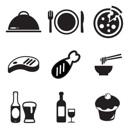 to lunch: Iconos Almuerzo Vectores