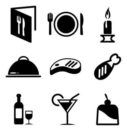 Diner Icons Stockfoto - 37625566