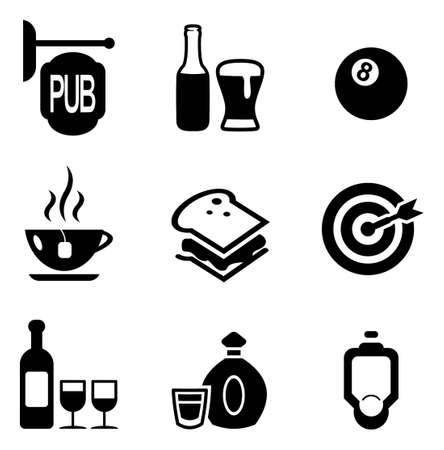sandwich white background: Pub Icons