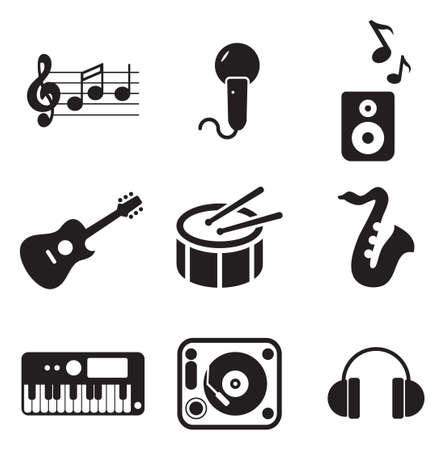 tambor: Iconos de Música Vectores