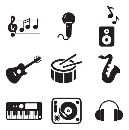 bateria musical: Iconos de M�sica Vectores