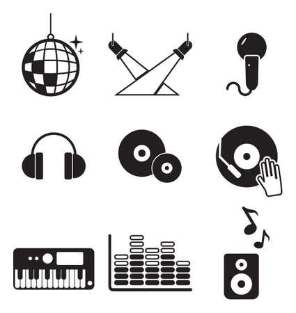 Disco club o iconos Foto de archivo - 37669656