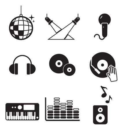 dj music: Disco Or Club Icons