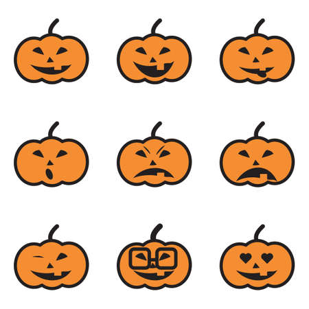 dead man: Pumpkin Face Expressions Icons