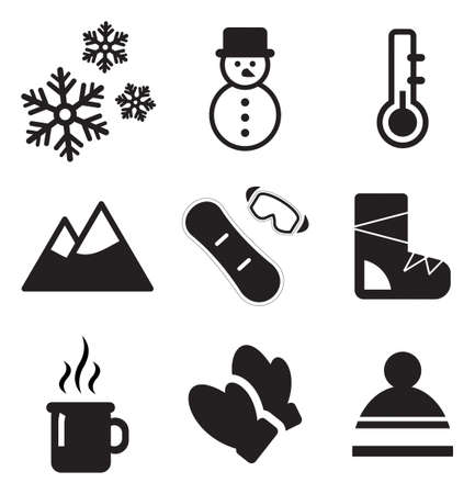 winter season: Winter Icons Illustration