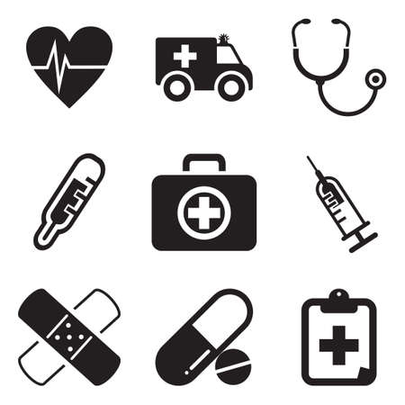 medical heart: Ambulance Icons