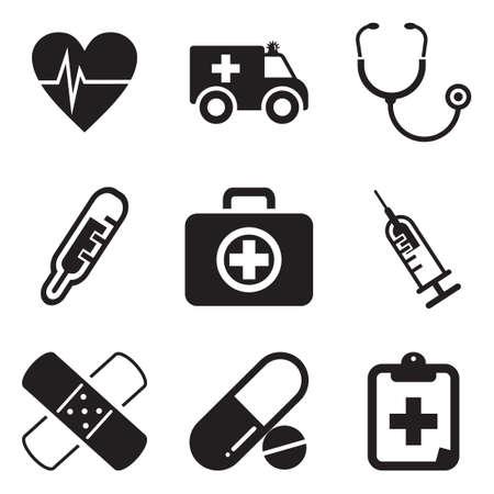 Krankenwagen-Ikonen Standard-Bild - 47121142