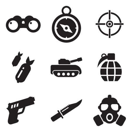mascara de gas: Iconos militares