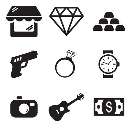 diamond jewelry: Pawn Shop Icons