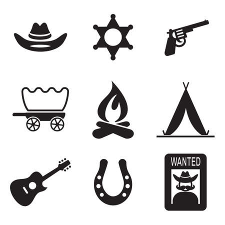 cartoon hat: Wild West Icons