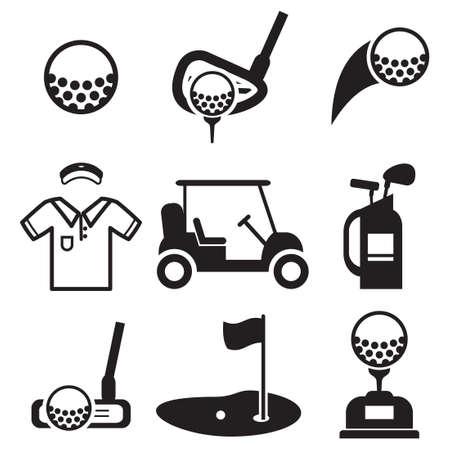 Golf Icons Illustration