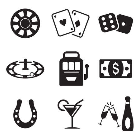 cards poker: Casino Or Gambling Icons