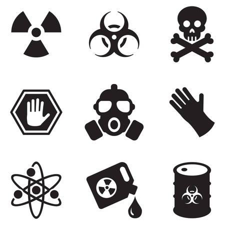 symbole chimique: Biohazard Icônes Illustration