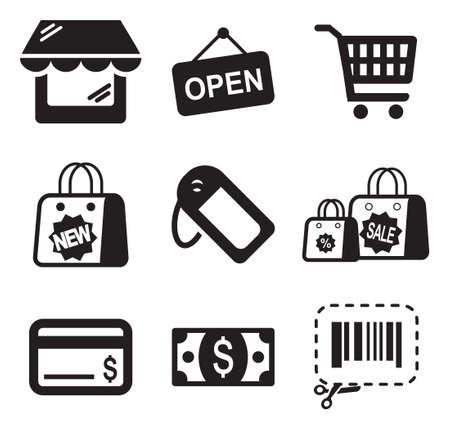 codigo barras: Iconos de compras