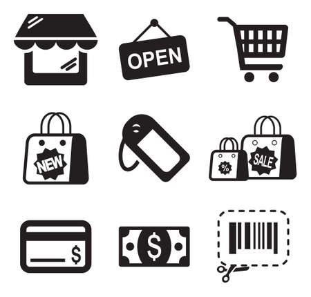 gift shop: Shopping Icons